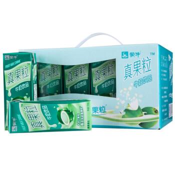 蒙牛 真果粒牛奶(椰果果粒)250ml*12 整箱装