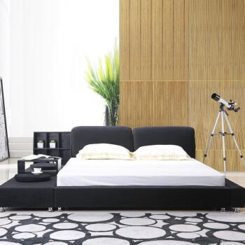 浪漫星 榻榻米床 布艺床布床 新款 储物床 大床1.8米1.