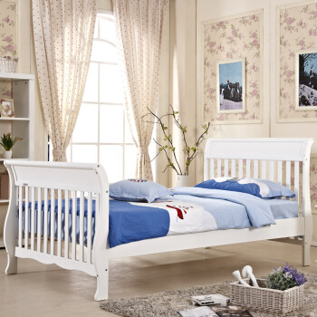 爱斯博儿考伊斯婴儿床实木童床可变成人床6006白色 小