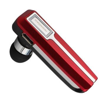 现代(HYUNDAI) HY-HS3309 (红色) 蓝牙耳机/蓝牙3.0/立体声音乐播放/支持一拖二双待机/电量显示/超长待机