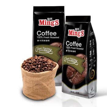 Mings铭氏咖啡  黑袋 摩卡风味咖啡豆454g