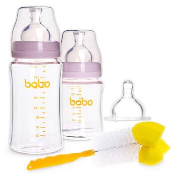 bobo乐儿宝 新生儿宽口径玻璃奶瓶婴儿套装 ¥200-100