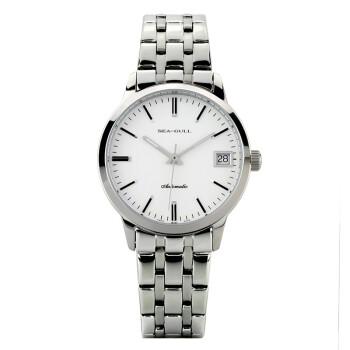 海鸥(SeaGull)手表 商务休闲系列自动机械情侣表女表白盘钢带D101L