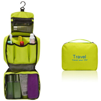 鑫洞诚品 韩版旅行洗漱包 便携式洗漱袋 防水透气 收纳挂袋 041111 绿色