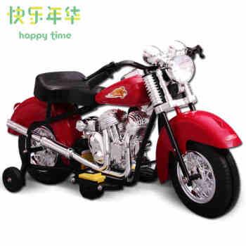 快乐年华儿童电动摩托车儿童电动车童车宝宝玩具车儿童可坐摩托车孩高清图片