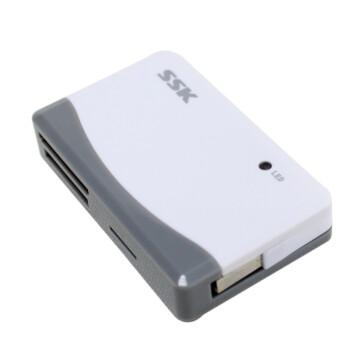 飚王(SSK) SCRM057 奔腾II 多合一读卡器 白色+灰