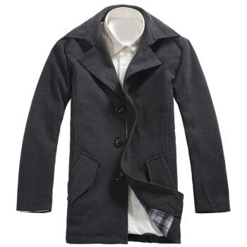 NO.1dara WT02 中长款翻领 男款毛呢外套