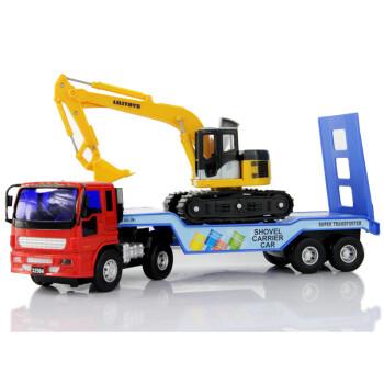 力利工程车系列儿童玩具车小型挖掘机&运输车组合
