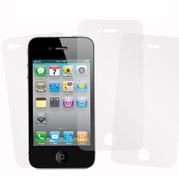 白菜党:哈密瓜 iPhone4/4S 高清屏幕贴膜套装(前后贴+布)