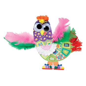 纸板小动物玩偶 手工制作玩具2岁以上 美国alex品牌获奖玩具