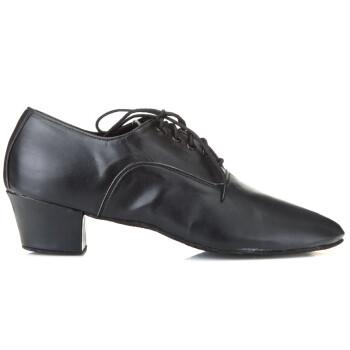 红舞鞋14016男士拉丁舞蹈鞋401型(国皮)黑色39