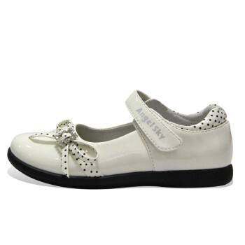 女童皮鞋 方口亮皮公主鞋