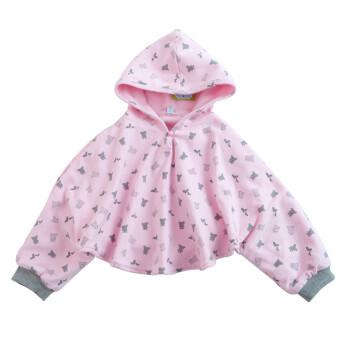 凯德氏 婴儿披风斗篷宝宝儿童披肩 春秋款拉舍尔宝宝披风 粉红色