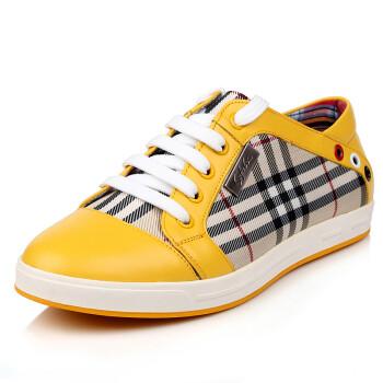 男士英伦系带低帮帆布鞋214