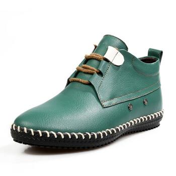 牛皮新款马丁短靴高筒男士长靴男靴子尖头男皮鞋