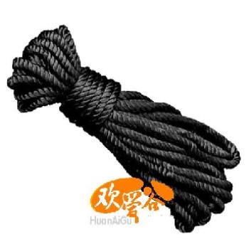 欢爱谷 sm专用丝绳(黑)[sm用品][绳子胶带] 成人用品/情趣用品