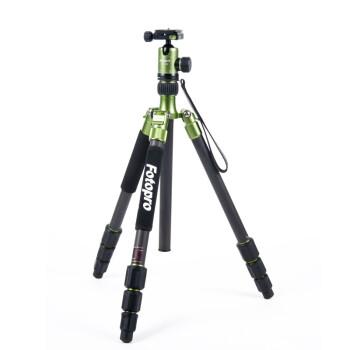 富图宝(Fotopro) C-5C Green 相机专业三脚架 翡翠绿色 碳纤可翻折三脚架¥1560