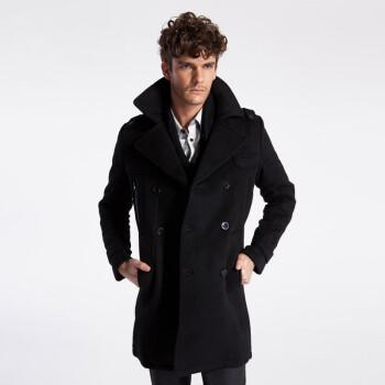 黑色呢子大衣