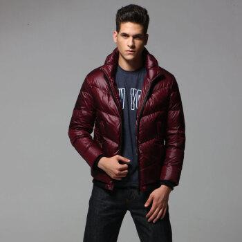 2012新款男士休闲时尚气质保暖立领短款羽绒服q-1782