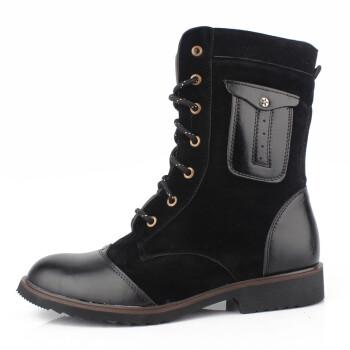 靴子冬季时尚潮流保暖男士棉鞋雪地男靴英伦男鞋子