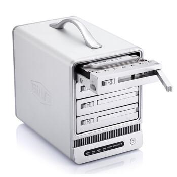 铁威马(TerraMaster) F4-300 磁盘阵列 硬盘存储盒 USB3.0/e-SATA 全铝