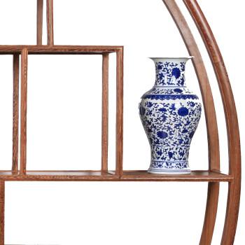 明清古典红木家具/鸡翅木博古架/中式多宝格/实木展柜