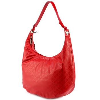 红色女士皮质手提包