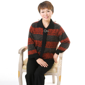 奢香中老年女装新款妈妈装秋冬装2012新款中年时尚羊毛衫外套8339
