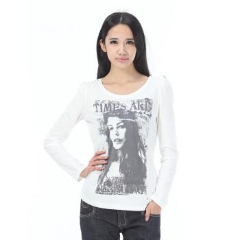 ESPRIT埃斯普利特女装EDCT恤XE0721FC 黑色印花图片