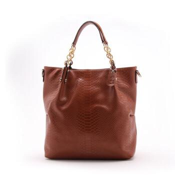 包包鳄鱼纹女包手提包大容量单肩金属拉链6397
