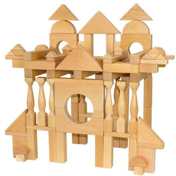 搭建积木111片超大型建筑木制玩具