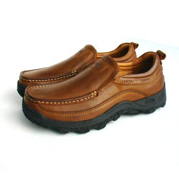 伦敦保罗经典男士正装休闲皮鞋1251浅棕色