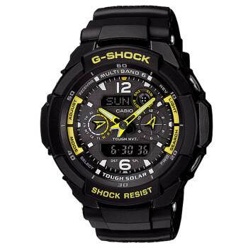 Casio 卡西欧  G-SHOCK 酷黑太阳能六局电波双显飞行男表 GW-3500B-1A 2(约1150元)