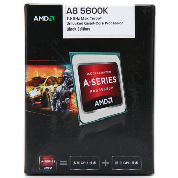 AMD APUϵ���ĺ� A8-5600K ��װCPU��Socket FM2/3.6GHz/4M����/HD 7560D/100W��