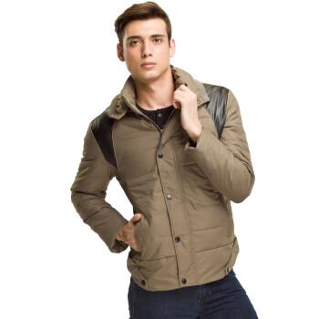男短款韩版修身外套 米色