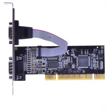 魔羯(MOGE)MC1362 PCI转2路RS232扩展卡,双串口卡,半高设计,更改挡板可用于小机箱,MOSCHIP芯片