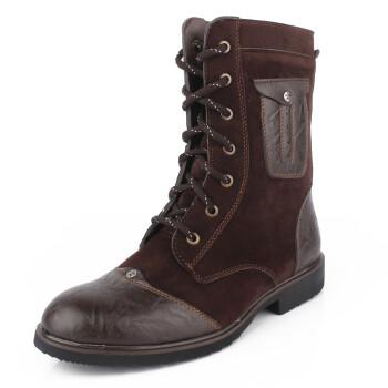 靴子冬季时尚潮流保暖男士棉鞋雪地男靴英伦男鞋子韩