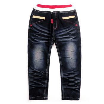 秋装新款童装儿童裤子男女童猫咪口袋休闲牛仔裤f012