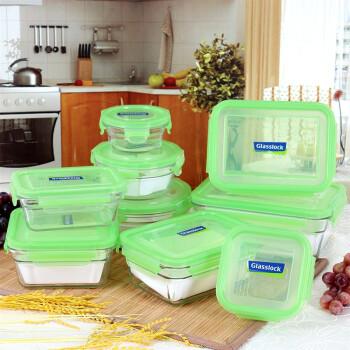Glasslock 三光云彩 GL09-01 钢化耐热玻璃保鲜盒 九件套