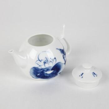 怡品堂 怡品堂茶具 景德镇陶瓷茶壶手绘青花瓷茶壶茶具