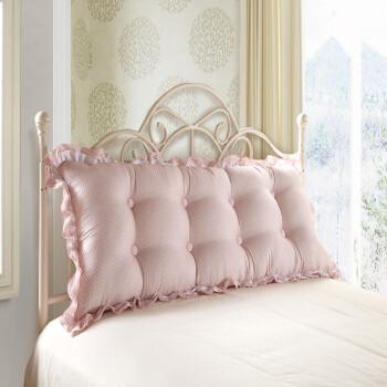 蓝色星光 韩版沙发床头双人大靠枕/靠垫 粉玉点点 200
