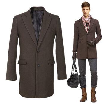 大衣 呢子外套男