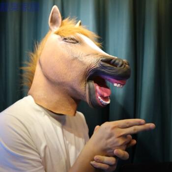 幼儿园动物头饰面具动物可爱头套儿童表演道具头饰驴马头搞笑创意表情