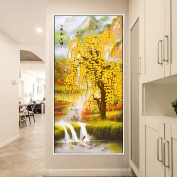 玄关装饰画竖版走廊过道挂画现代客厅墙画风景楼梯入户背景墙壁画 05
