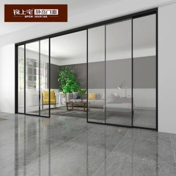 TATA木门出品锦上宅 窄边框移门厨房隔断推拉门阳台极简推拉门001 8mm钢化透明,钢化磨砂玻璃(此为一平米价格)