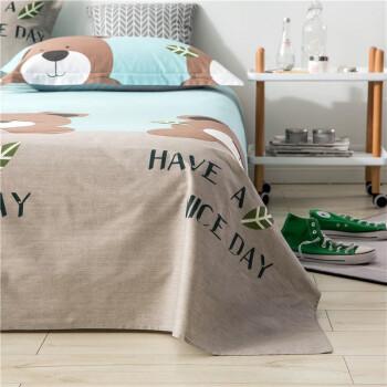 2件9折】南极人家纺床上用品纯棉床单单件全棉床单单双人学生宿舍床0.9/1.2/1.5/1.8米 格林童趣 200*23