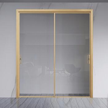 尚品本色 推拉门极窄边框钛镁合金移门钢化玻璃门浴室隔断门阳台厨房门极景 无包(每平方)