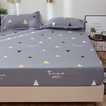 九洲鹿 全棉床笠 床垫保护套 纯棉床罩防滑席梦思保护罩 单件 180*200cm