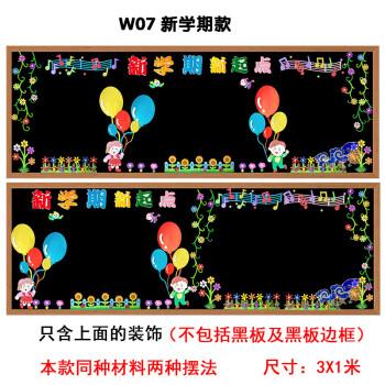 小学幼儿园开学黑板报装饰墙贴画教室文化主题墙面环境布置创意大 w07