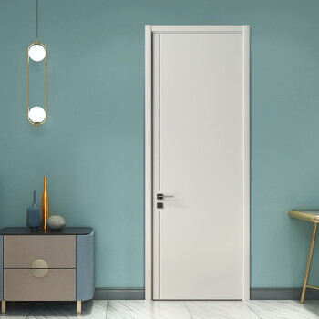 欧铂尼木门定制 环保免漆实木复合卧室门房间门室内门 静享家免漆静音门 静享家